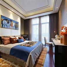精美121平米美式别墅卧室装饰图片