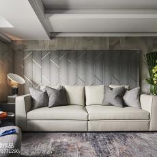 暗色系现代客厅沙发设计图
