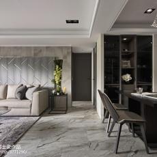 优雅99平现代三居客厅装修图片