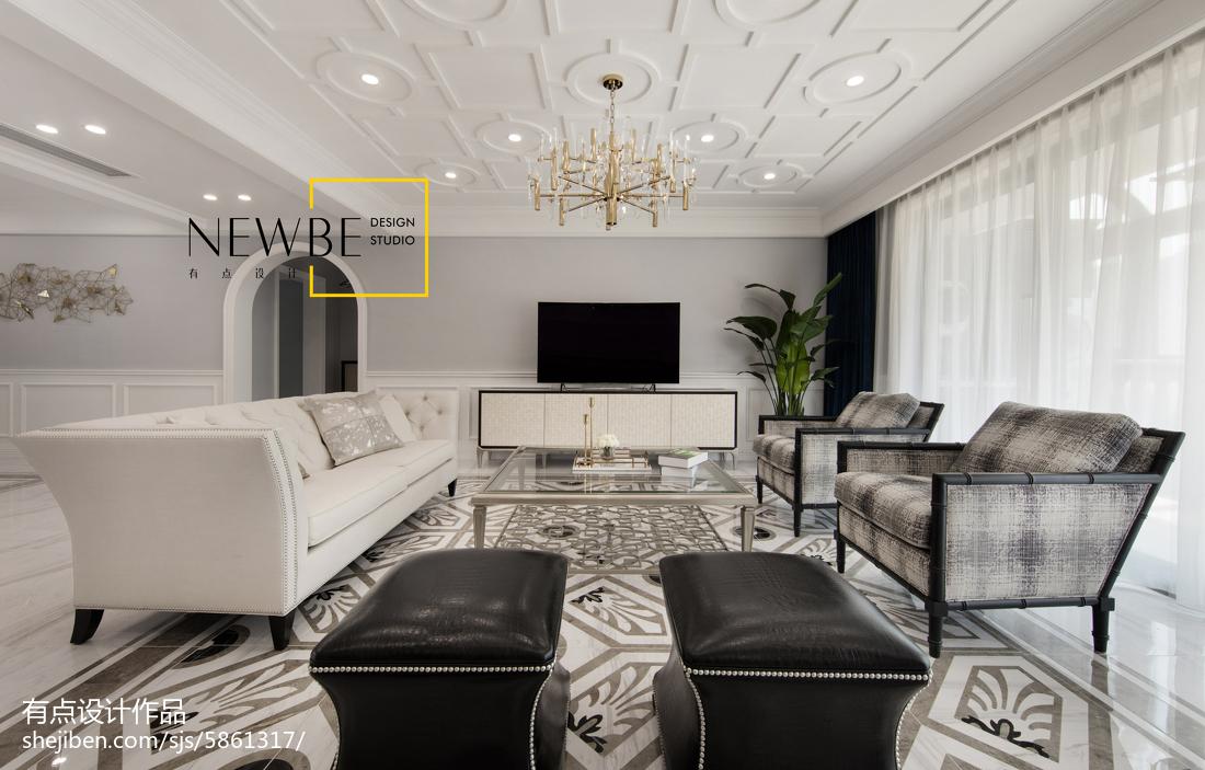 简单美式风格客厅设计图