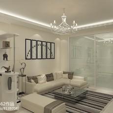 现代中式风格100平米两室两厅装修效果图
