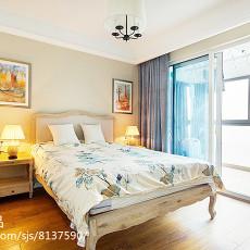 2018105平米三居卧室美式装修图