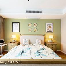 精选面积100平美式三居卧室装修设计效果图片欣赏