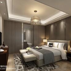 2018精选面积71平现代二居卧室装修欣赏图