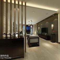2018精选105平方三居客厅中式装饰图