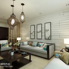 96平米三居客厅中式装修实景图