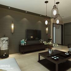 2018面积93平中式三居客厅装饰图片大全