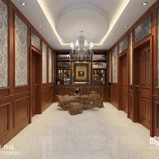 热门面积84平复古二居装修效果图片大全