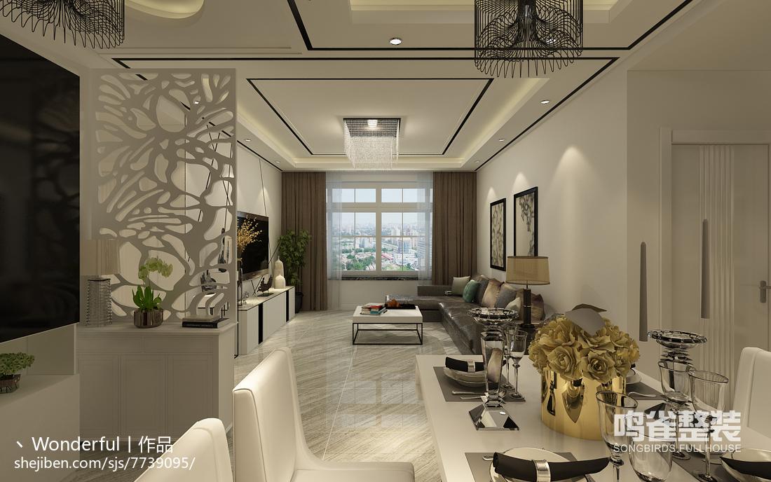 自然简约设计公寓装修效果图