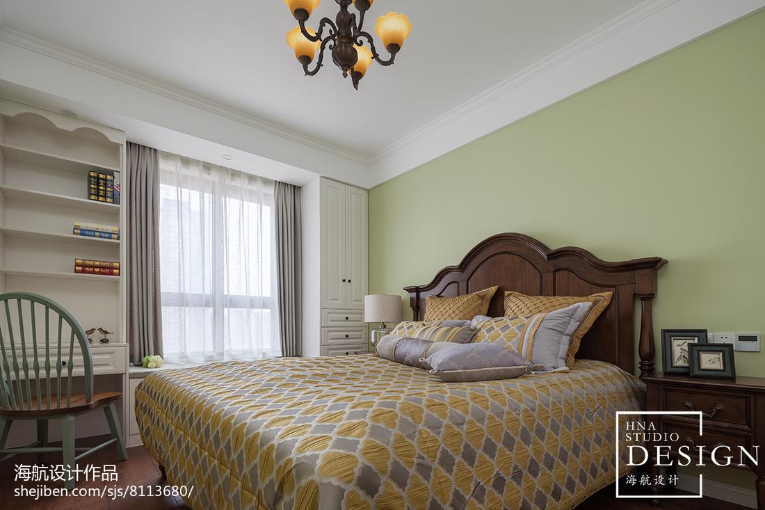 105平方三居卧室美式装修欣赏图片大全