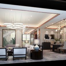 2018复式客厅现代装修欣赏图片