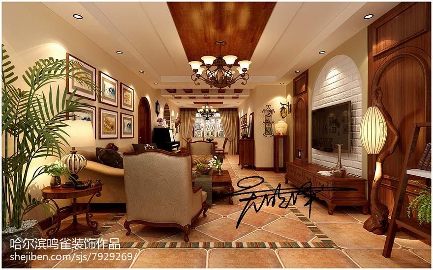 简欧室内书房设计效果图片