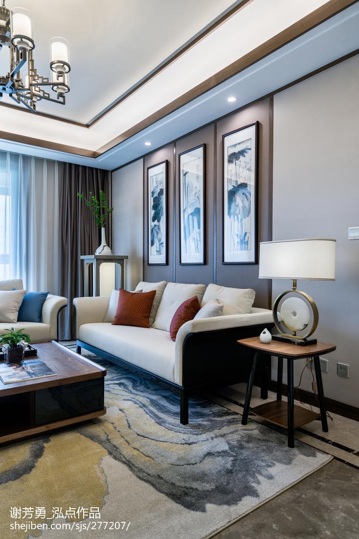 面积110平中式四居客厅装饰图片欣赏