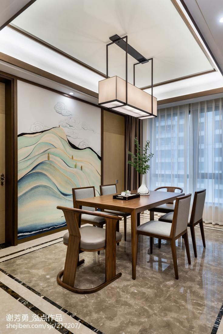 精选144平米四居餐厅中式装修设计效果图片欣赏