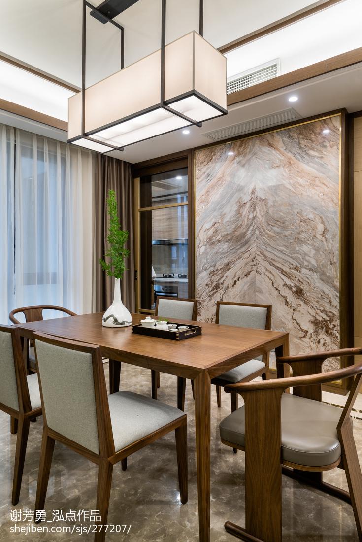热门面积114平中式四居餐厅实景图片