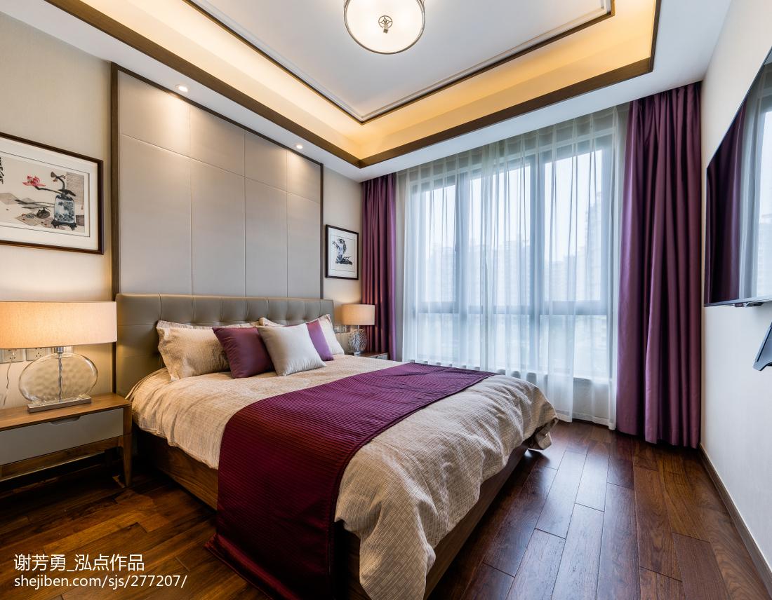 精选面积126平中式四居卧室效果图片