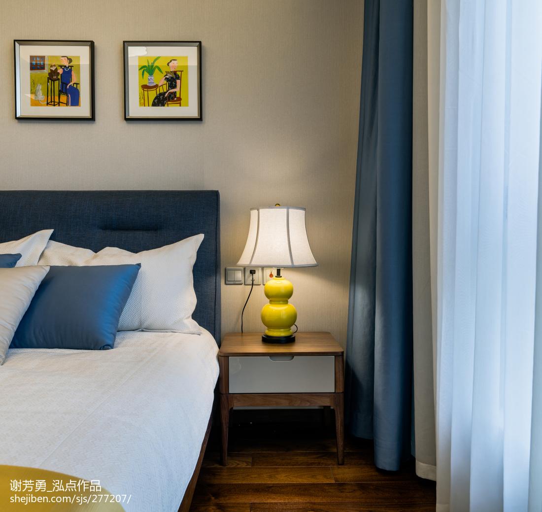 2018精选面积120平中式四居卧室装饰图