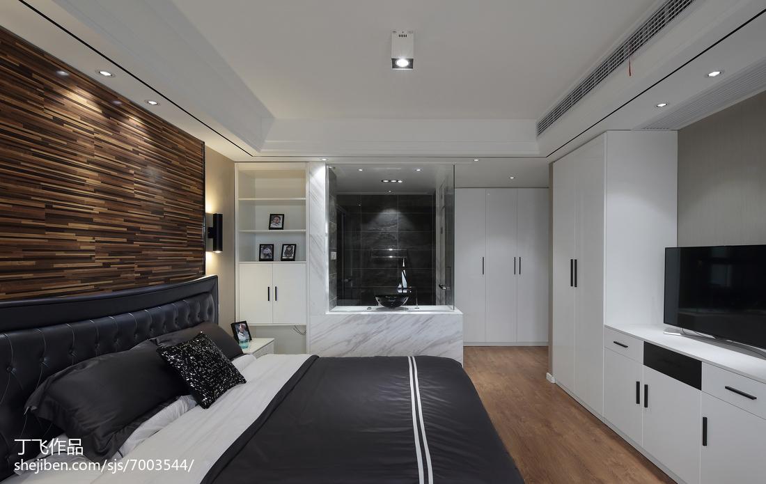 2018精选90平米三居卧室简约效果图
