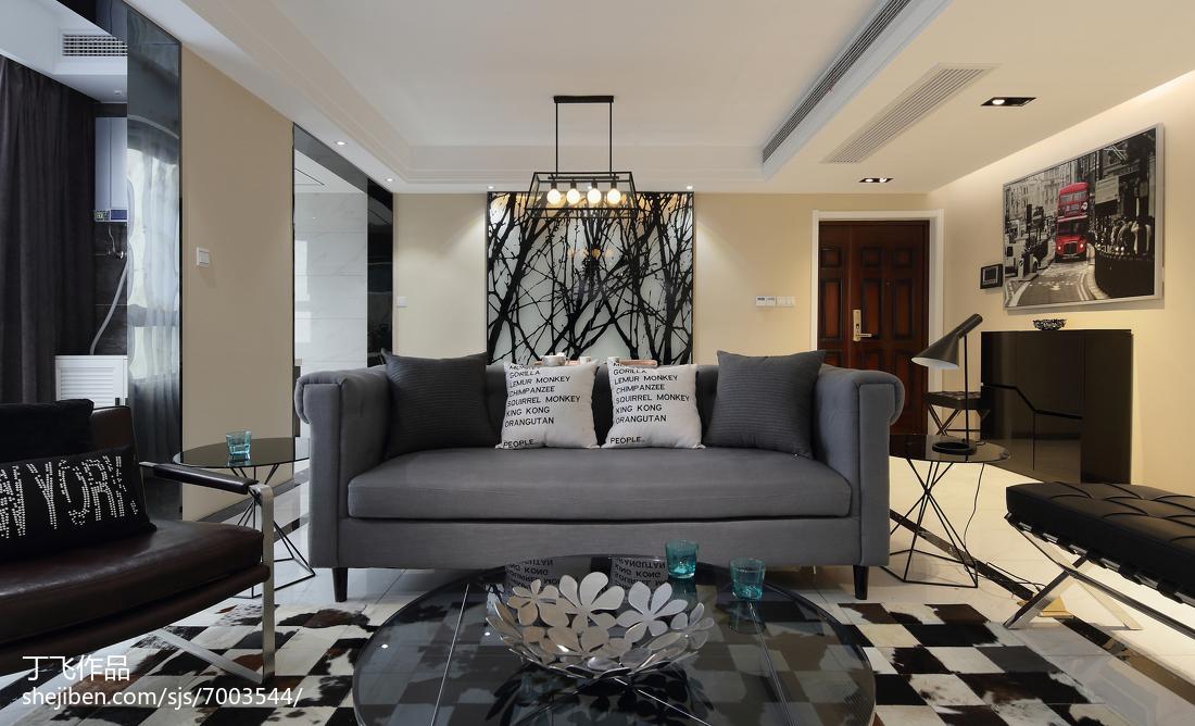 精美96平方三居客厅简约装修实景图片大全