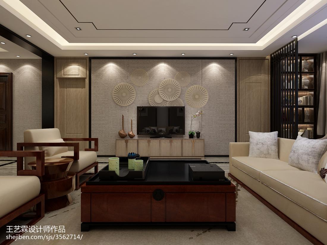中式古典设计客厅装修效果图片