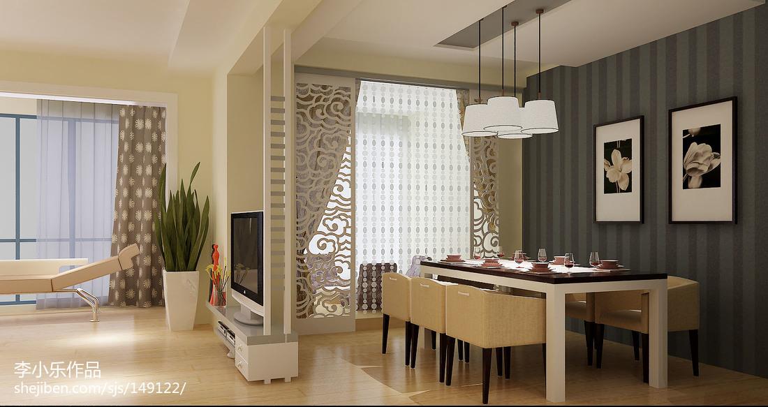 美式风格三室一厅室内设计装修效果图
