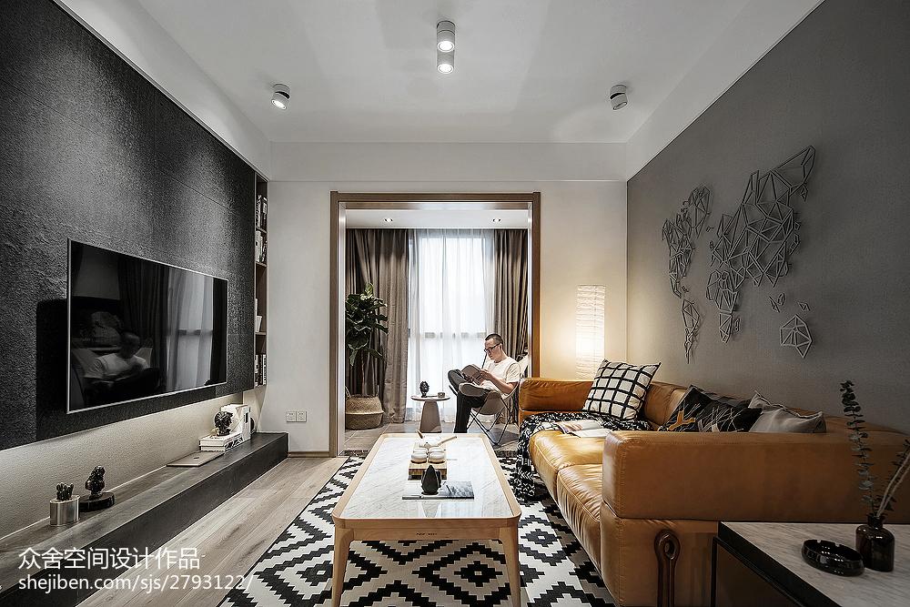 精致28平简约小户型客厅实景图片