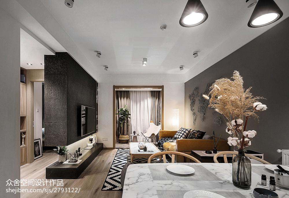优美21平简约小户型客厅装潢图