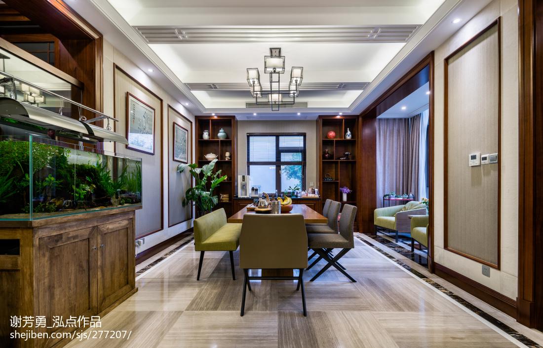 新中式别墅餐厅设计图片