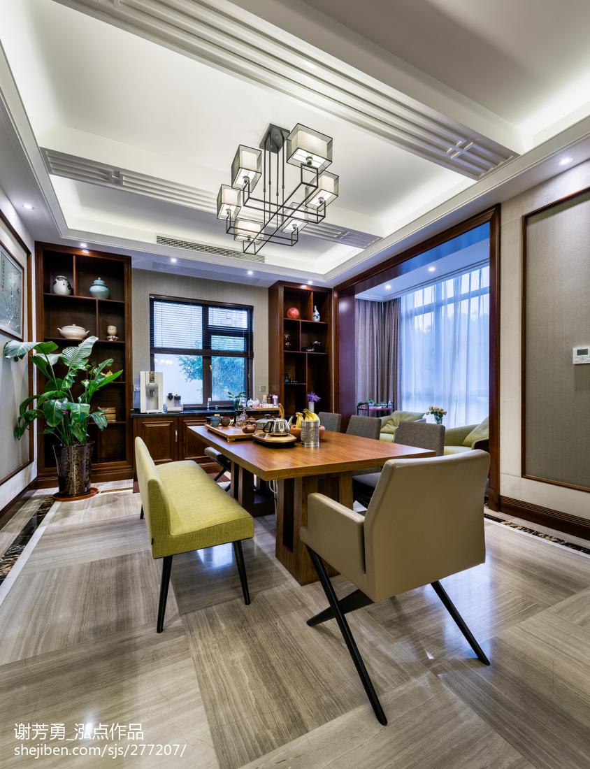 新中式别墅餐厅设计图