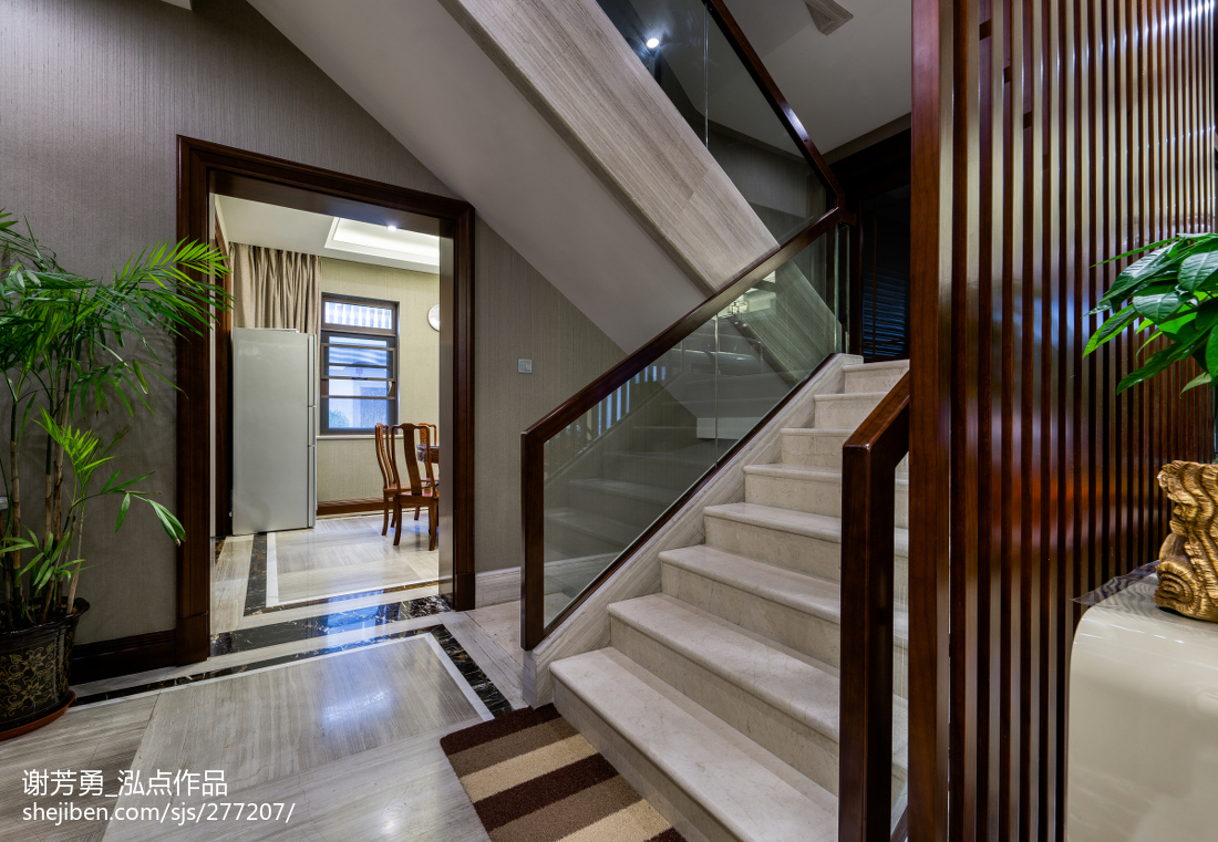 新中式別墅樓梯設計圖