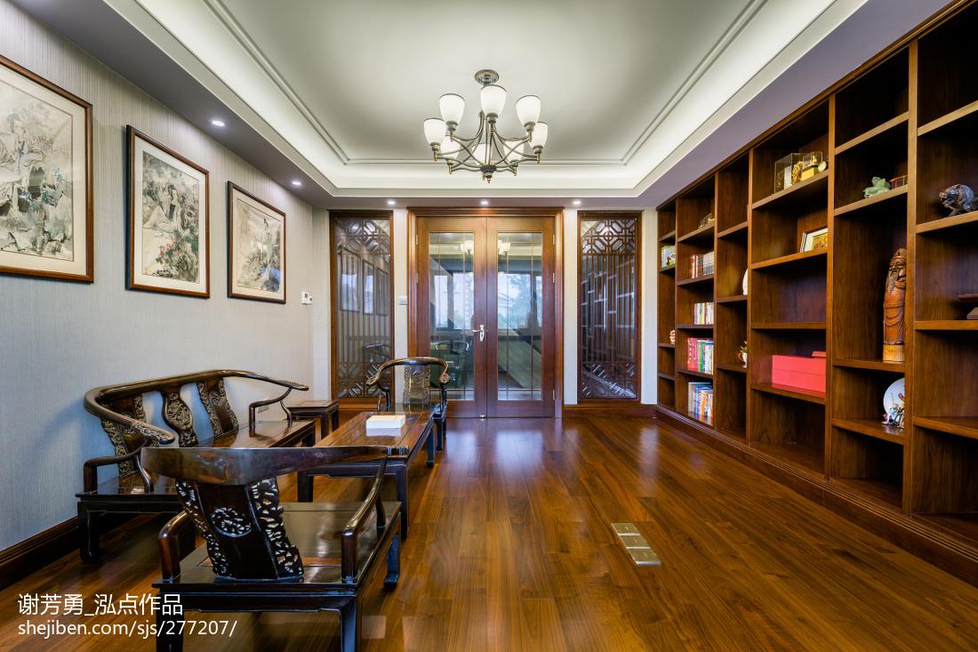 新中式別墅書房設計圖