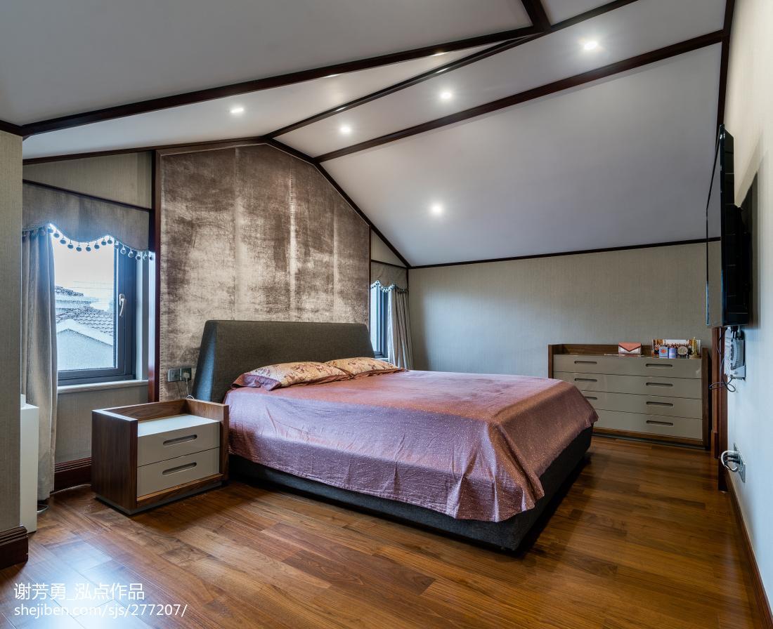 2018大小116平别墅卧室中式装修实景图片