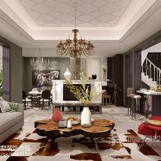 精美面积127平别墅客厅简约设计效果图
