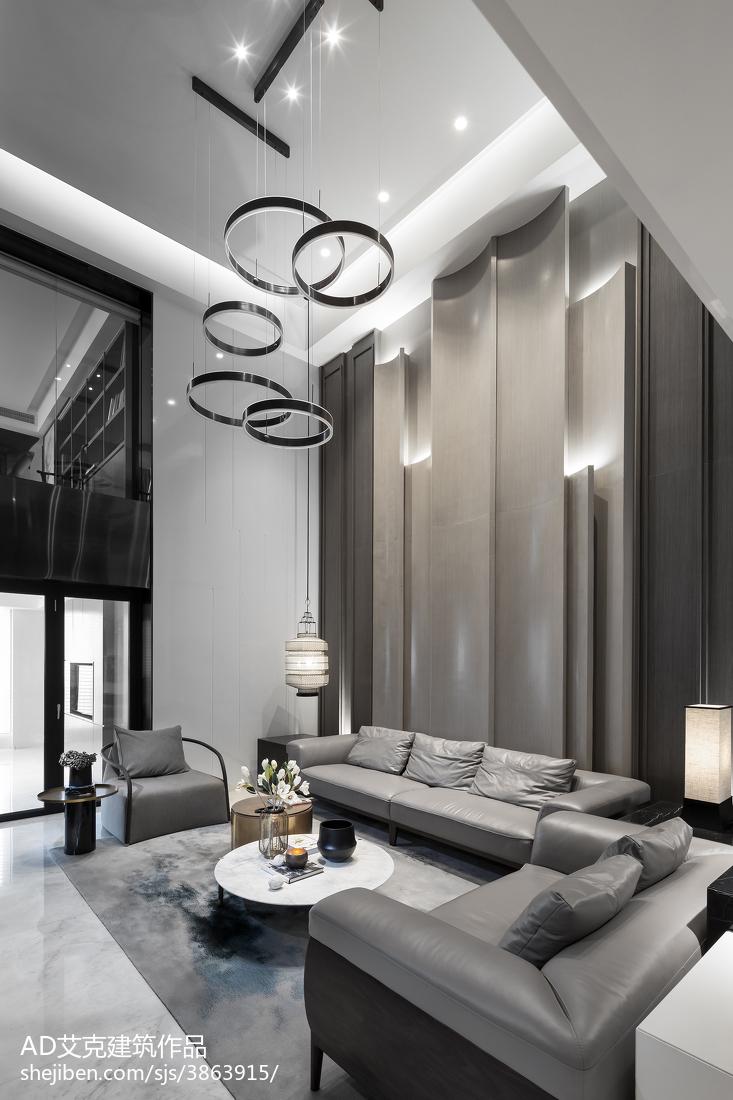 2018精选135平米中式复式客厅装修欣赏图片大全