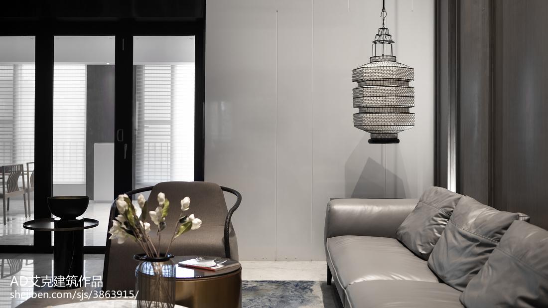 2018精选面积116平复式客厅中式装修实景图片