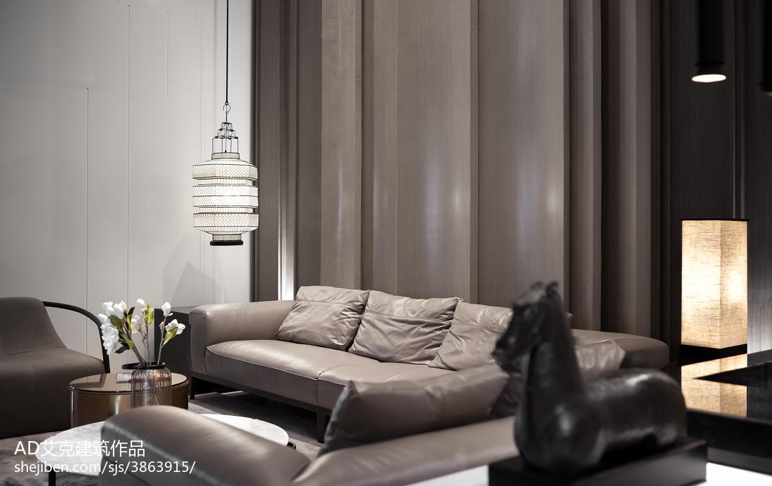 2018111平米中式复式客厅欣赏图