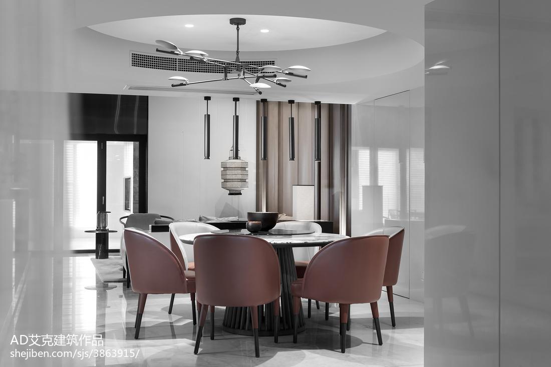 精美116平米中式复式餐厅装修设计效果图片欣赏