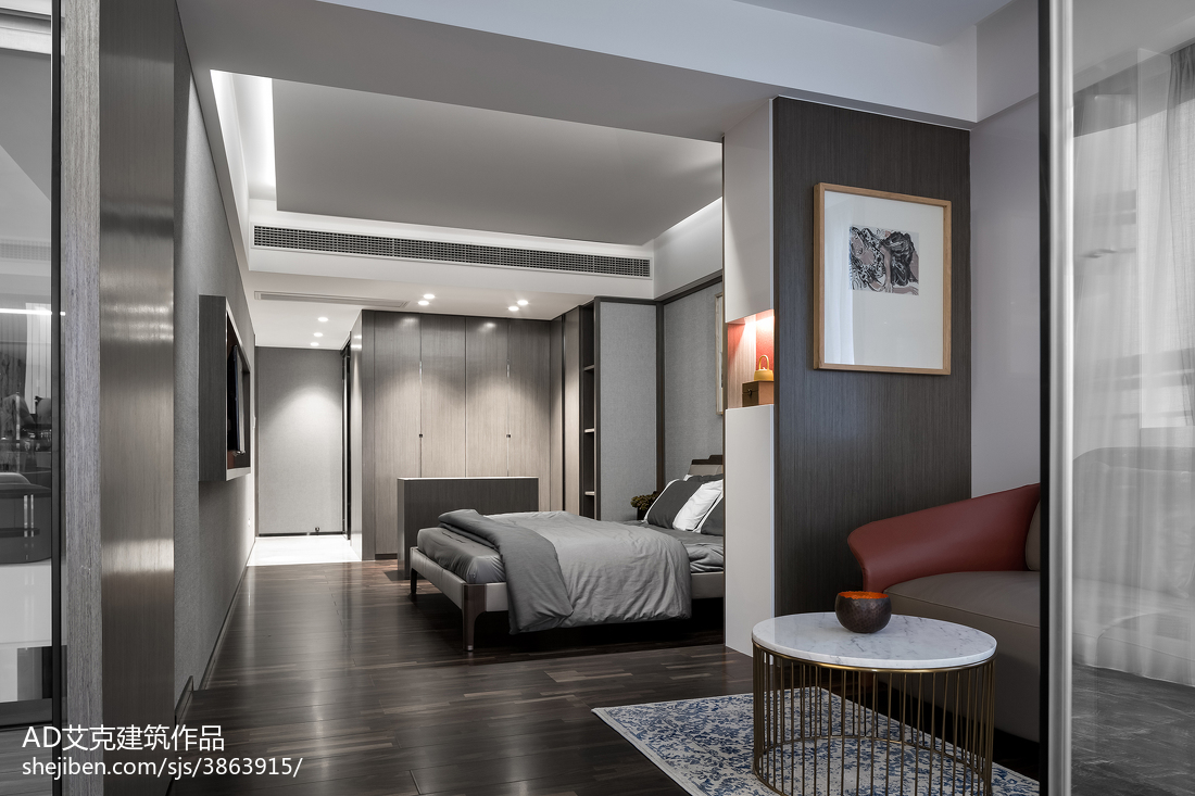 2018精选131平米中式复式卧室装修欣赏图