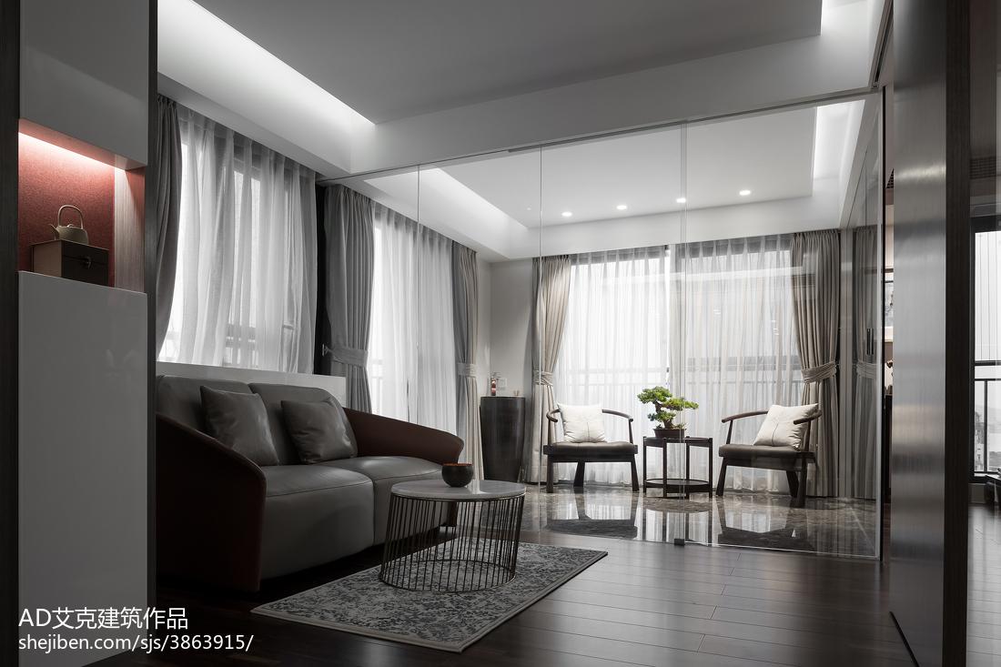 热门面积126平复式客厅中式装饰图片