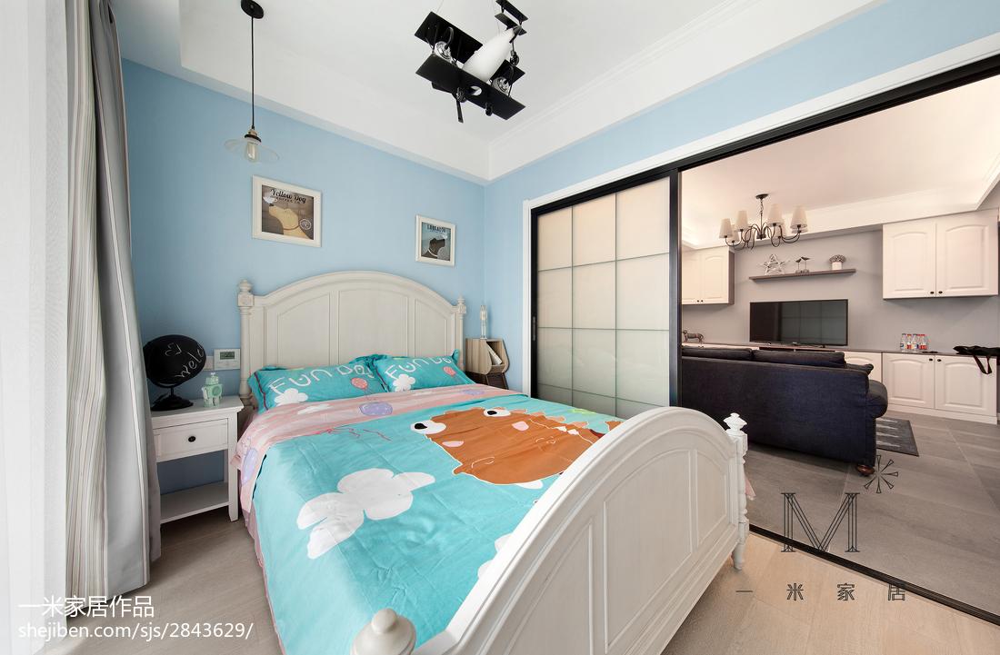 面积91平美式三居儿童房装修效果图片