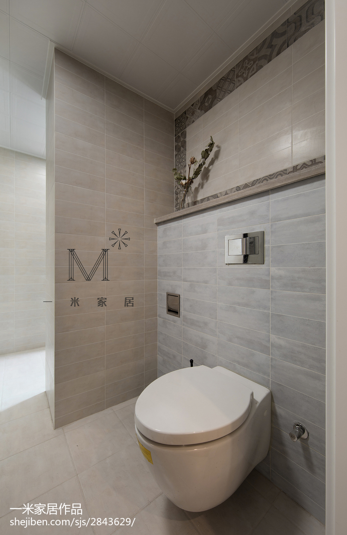 精选面积91平美式三居卫生间装修实景图片欣赏