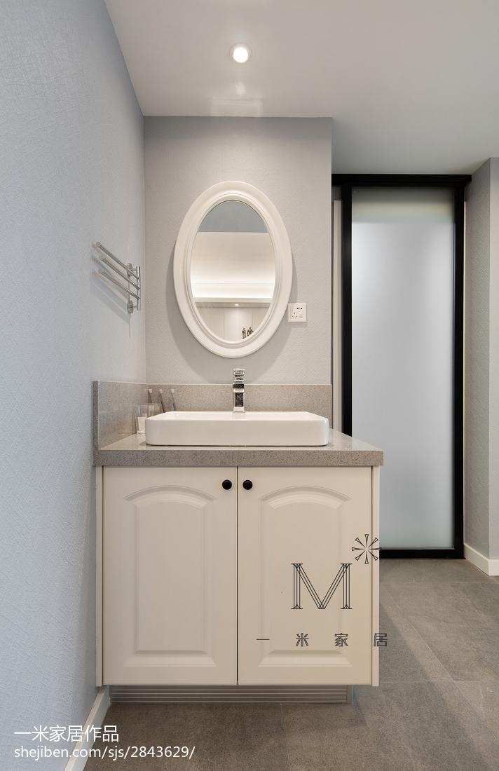 精选99平米三居卫生间美式实景图片大全