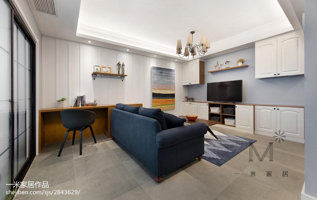 精选面积94平美式三居客厅装修设计效果图片欣赏