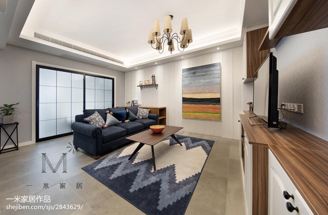 2018精选97平米三居客厅美式装修图片欣赏
