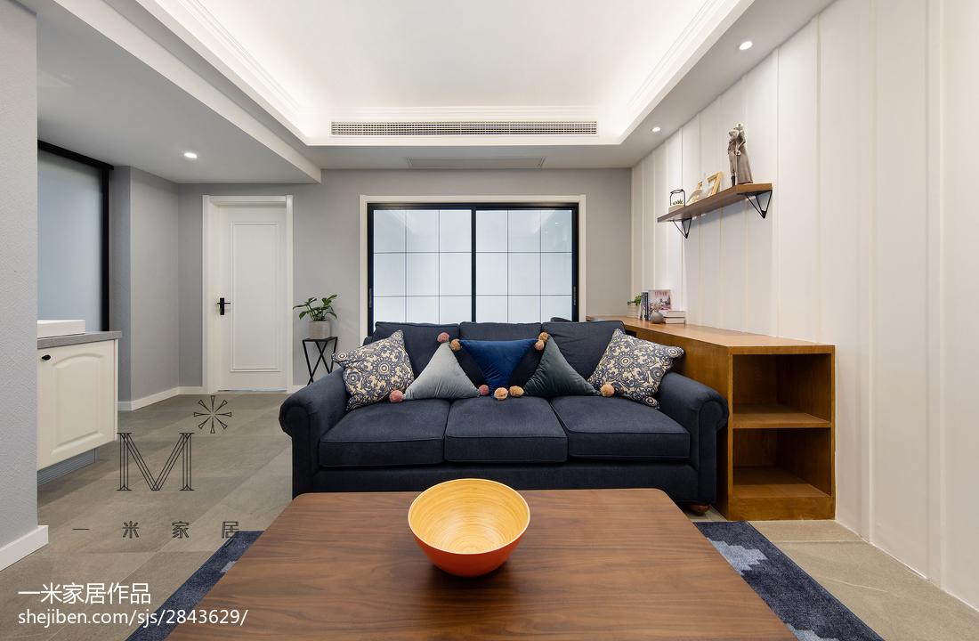 优美70平美式三居客厅设计美图