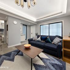 2018面积103平美式三居客厅装修设计效果图片欣赏