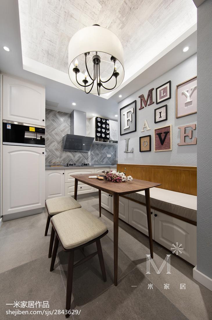温馨110平美式三居设计案例
