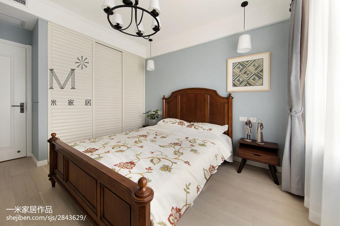 2018101平米三居卧室美式设计效果图