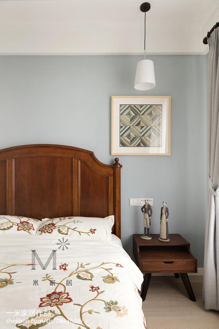 浪漫103平美式三居卧室装饰美图