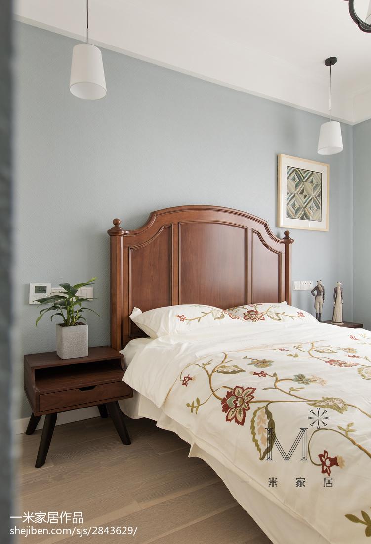 精选面积101平美式三居卧室装饰图片